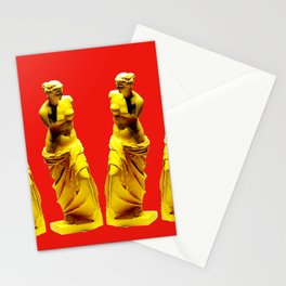 red gold venus Stationery Cards