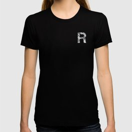 The Letter R- Stone Texture T-shirt
