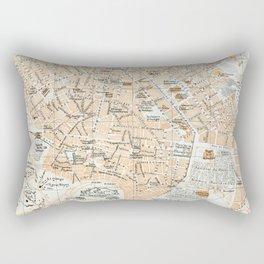 Vintage Map of Athens Greece (1890) Rectangular Pillow