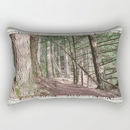 SHADOWS ON A WOODLAND PATH Rectangular Pillow
