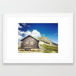 Mountain Hut Framed Art Print