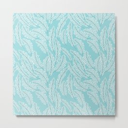 Pattern with delicate white flowers Metal Print