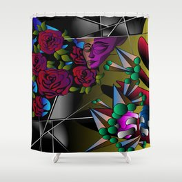 What's in your mind? Shower Curtain