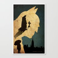 bat man Canvas Prints featuring BAT MAN  by Edmond Lim