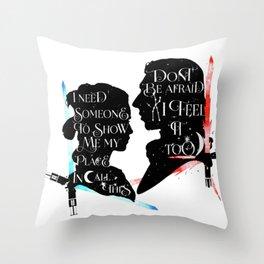 reylo - sabres Throw Pillow