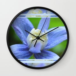 SOFT BLUE #1 - Clematis Alpina Wall Clock