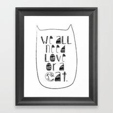 Le Chat. Framed Art Print