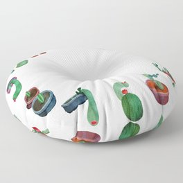 Clock Cactus Floor Pillow