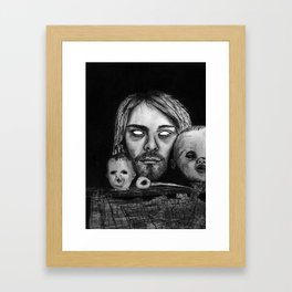 Heads and Kurt. Framed Art Print