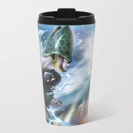 Goku vs celula Metal Travel Mug