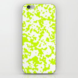 Spots - White and Fluorescent Yellow iPhone Skin