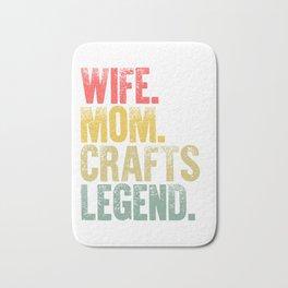 Best Mother Women Funny Gift T Shirt Wife Mom Crafts Legend Bath Mat