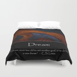 Motivational - Double Arch And The Milky Way - Utah Duvet Cover