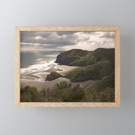 Anawhata Beach West Coast Auckland New Zealand Framed Mini Art Print