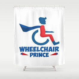 Funny Wheelchair Walking Disability Carer Gift Shower Curtain