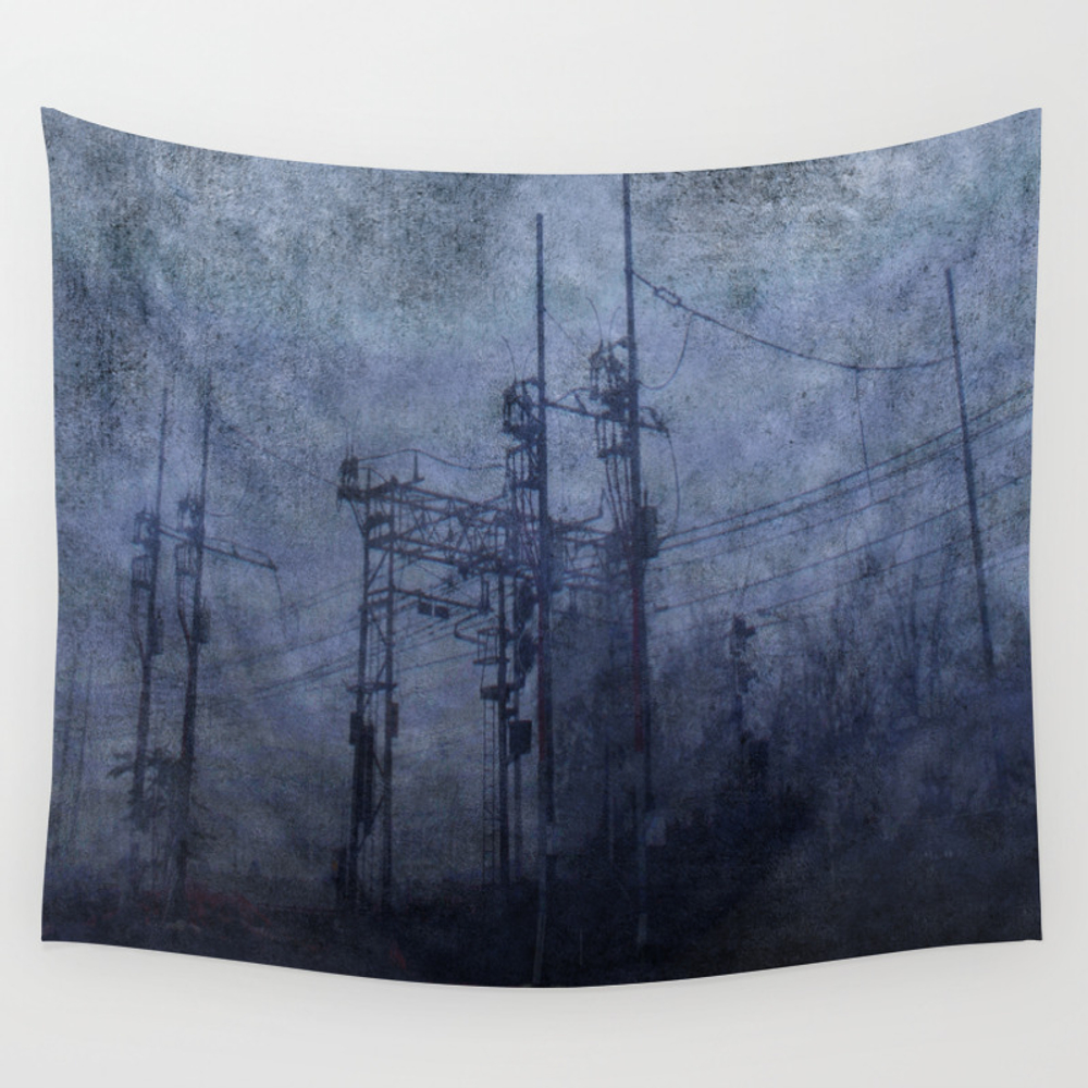 Electricity In The Mist Wall Tapestry by Nebbia TPS3546934