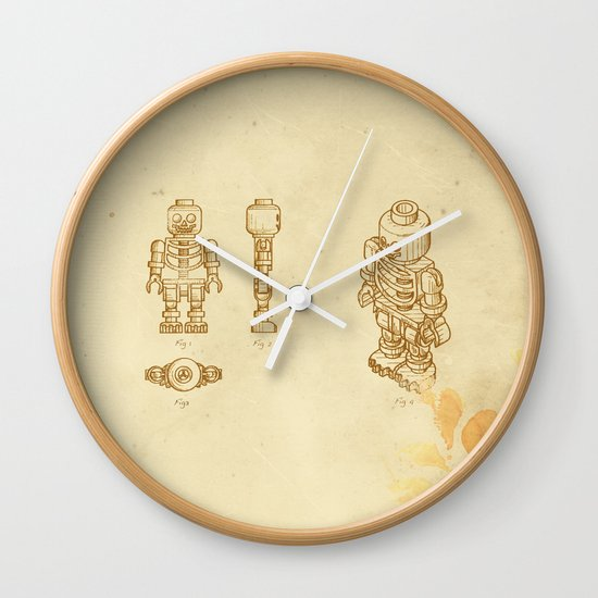 Lego Skeleton Wall Clock
