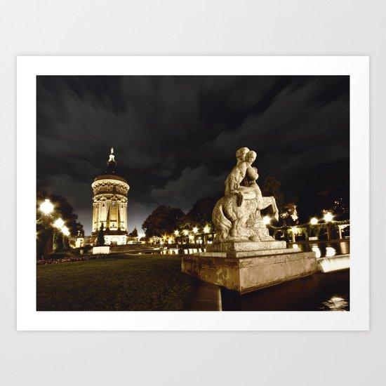 Mannheim Wasserturm Art Print