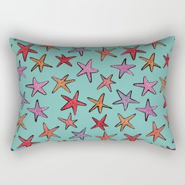Starfishes in tropical sea Rectangular Pillow