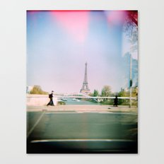Paris Holga: Eiffel Tower Canvas Print