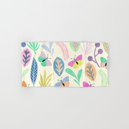 Flower and Butterfly II Hand & Bath Towel