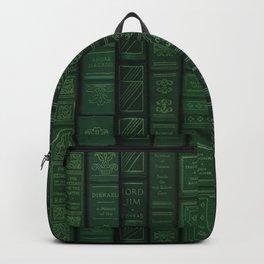 "Extravagant Design Series: Vertical Book Pattern ""Bookbag"" Backpack"