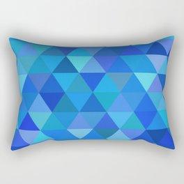 Autumn Colored Triangles Blue Rectangular Pillow