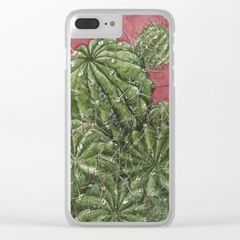 mexican cactus Clear iPhone Case