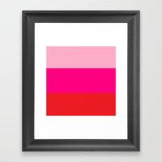 Pink Colorblock Framed Art Print