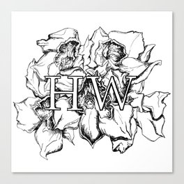 """HW"" Drawing Canvas Print"