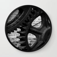 iron maiden Wall Clocks featuring Iron by Chandon Photography