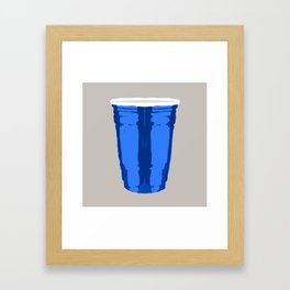 CLARITY CUP BLUE (BIG) Framed Art Print