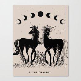 7. The Chariot (Unicorns) Canvas Print