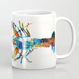 Colorful Lobster Art by Sharon Cummings Coffee Mug