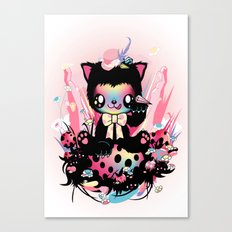 Lucky kitty Canvas Print