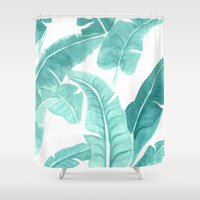 palms Shower Curtains featuring Palms by CK Illustrations