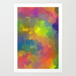 Abstract cubism -2- Art Print