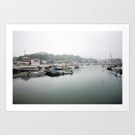 Japanese Fishing Village on Naoshima Art Print