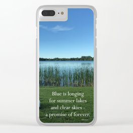 Blue is Longing Clear iPhone Case