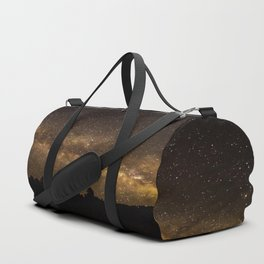 Above the Horizon - Milky Way Galaxy Above Treeline in Colorado Duffle Bag