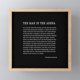 The Man In The Arena, Theodore Roosevelt Quote, Framed Mini Art Print