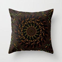 Red Orange and Yellow Kaleidoscope 4 Throw Pillow