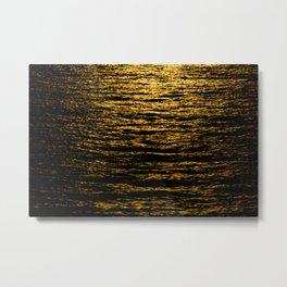 The Goldsoundwaves 2 Metal Print
