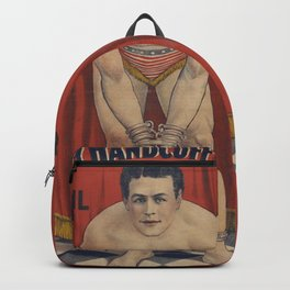 Harry Handcuff Houdini Magician Vintage Poster Backpack