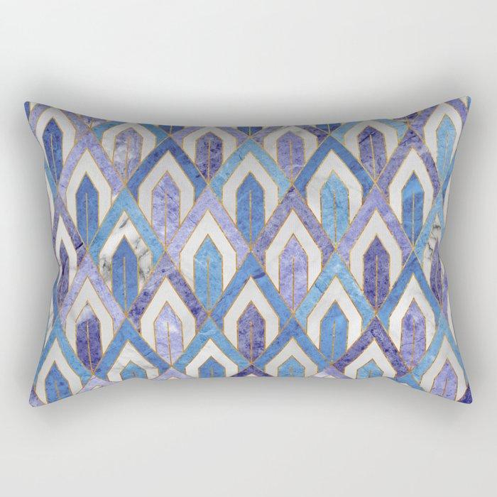 Art Deco Marble Pattern III. Rectangular Pillow