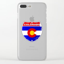 Colorado Interstate Sign Clear iPhone Case