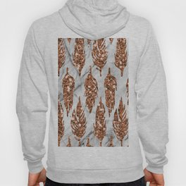 Rose gold art deco feather Hoody