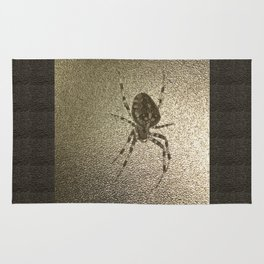 Golden cross spider Rug