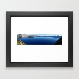 Crater Lake Panorama Framed Art Print