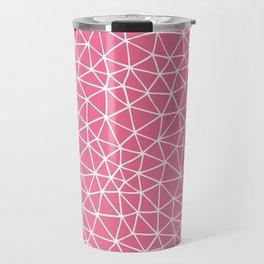 Connectivity - White on Pink Travel Mug